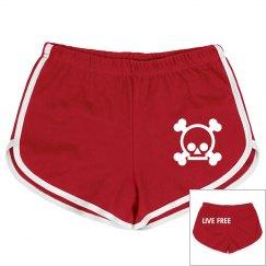Skull Mesh Shorts