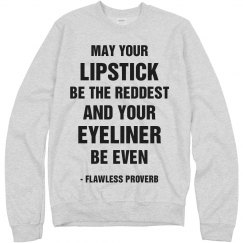 Woke Up Flawless Quote Text Tee