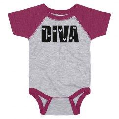 Cute Baby Diva Hearts