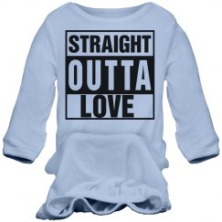 Straight Outta Love Baby Gown