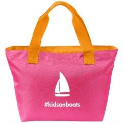 Kidsonboats, tote, pink