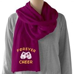 Forever Cheer Cheerleader Gift Scarf