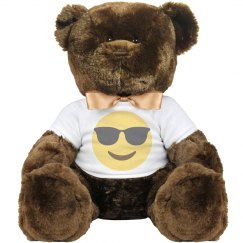 Smiling Face with Sunglasses Large Plush Teddy Bear