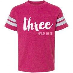 Custom 3rd Birthday Trendy Shirt