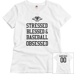 Custom Baseball Obsessed Mom