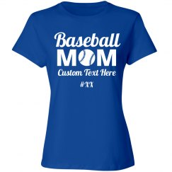 Custom Baseball Mom Number