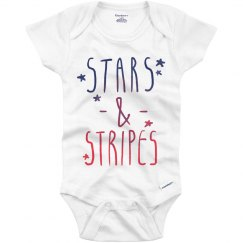 Stars and Stripes Onesie