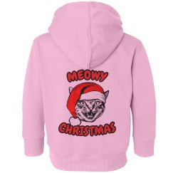 Meowy Christmas Kid Hoodi
