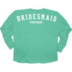 Name Here Bridesmaid Jersey