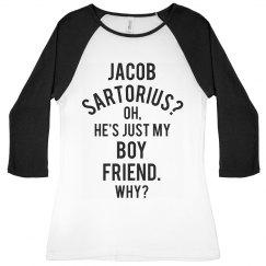 Jacob Sartorius Is My Boyfriend Raglan Shirt