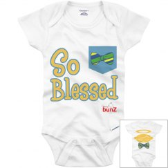 Infant boy Blessed onesie
