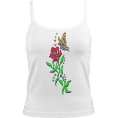 butterfly floral camisole