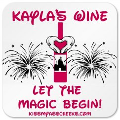 Personalized Wine Coaster