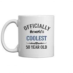 Coolest 50 year old birthday mug