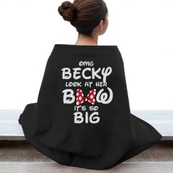 Cheerleaders Like Big Bows Funny Blanket
