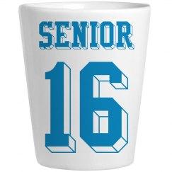 Senior Shot Glass (Blue)