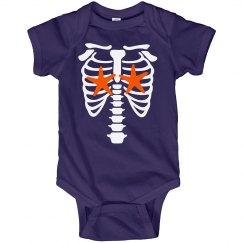 Infant Girls Skelemermaid Onsie