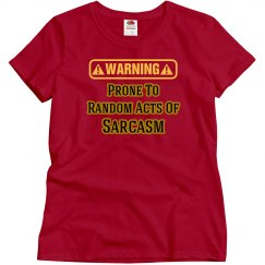 Sarcasm Warning T-Shirt