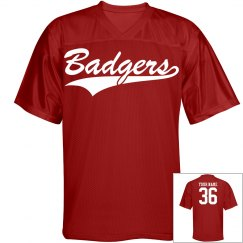 Badgers custom name and number jersey