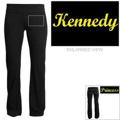 Kennedy, yoga pants