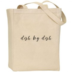Dish by Dish canvas tote bag