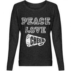 Peace,love cheer shirt