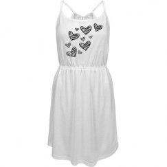 zebra heart dress