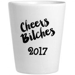 New Years 2017 Shot Glass