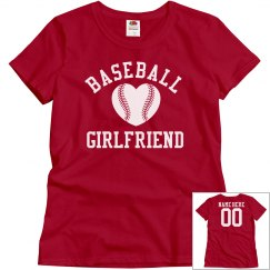 Baseball Girlfriend Fan With Back Name Number