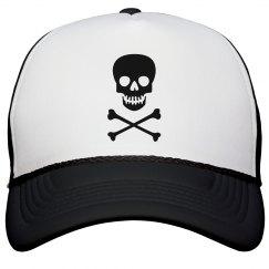 Black Skull Hat