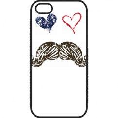 Hearts & mustache case
