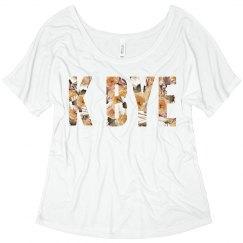 K Bye Floral Text