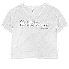 99 problems crop top tee