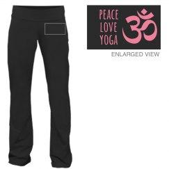 Peace Love Yoga Symbol