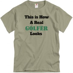 How a golfer looks