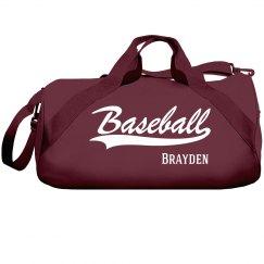 Brayden's baseball bag