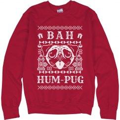 Red Christmas Bah Hum-Pug