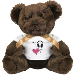 Music Heart Brown Bear