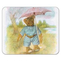 Teddy in Rain Mousepad