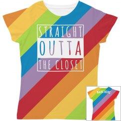 Outta The Closet Rainbow Print