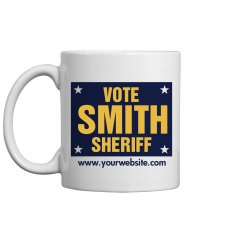 Sheriff Election Sign Mug