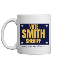 Sheriff Election Sign Mug