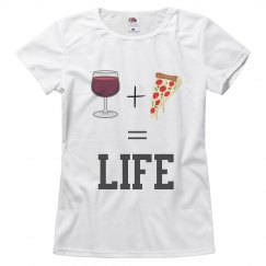 Wine and Pizza Woman's T-Shirt