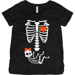 Cute Skeleton Halloween Baby Bump