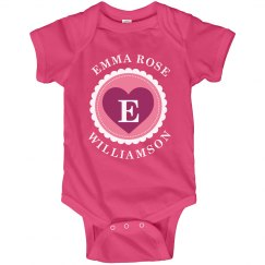 Custom Name Baby Onesies
