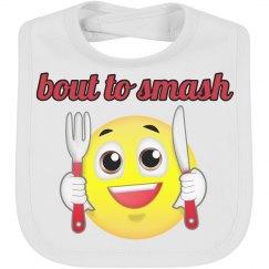 Trendy Emoji Baby Bib Smash Eat