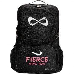 Fierce Cheerleader Custom Sparkle Cheer Bag