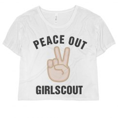 Peace Out Girlscout Emoji