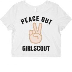 Peace Out Girlscout Emoji