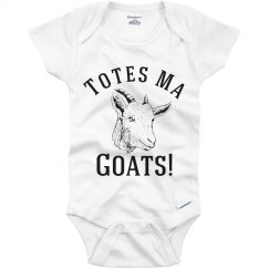 Totes Ma Goats Funny Baby Onesie